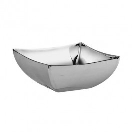 Linea Q Square Bowl 12 x12cm 18/10 Stainless Steel