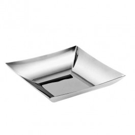 Linea Q Square Fruit Basket 24 x24 cm 18/10 Stainless Steel