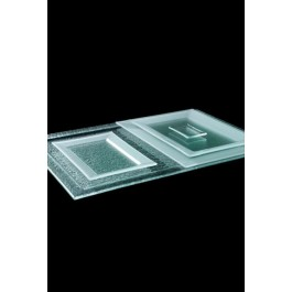 Axum Oblong Tray Frosted 10x6cm DISCON