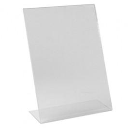 Clear Acrylic Angled Menu Holder 21 x 30cm