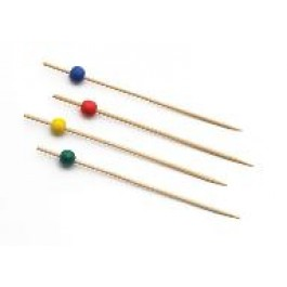 Bamboo Assorted Colours Ball Picks (Pack of 100) 9cm
