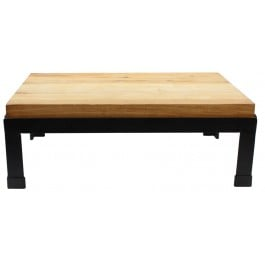 Butcher Block Riser Black Powder Coated Frame with Northern Hard Birch Butcher Board Chopping Block 47 x 31.75 x 16.51cm