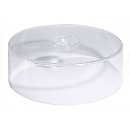 Clear Polystyrene Cake Cover High 30 x 9.5cm