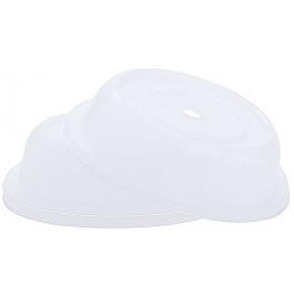 Plate Cover Translucent Polypropylene Dishwasher Safe. Microwave Safe. 27 x 6cm (Dia x H)