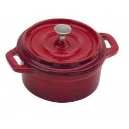 Commichef Provencale Flame Red Round Mini Cocotte Cast Iron 10cm