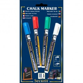 Liquid Chalk Markers 4 Colour Pack (R,G,W,BL) Small