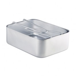 Aluminium Mess Tins Set (Set of 2) 16.8 x 13.4 x 5.8cm 18.2 x 13.6 x 6.1cm