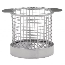 Olympia Chip Basket with 2 Ears Stainless Steel 8 x 8cm