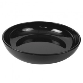 Black Melamine Low Bowl 30 x 6.5cm