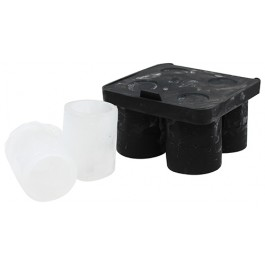 Silicone Shot Glass Tray Holds 4 Shot Glasses 3cl