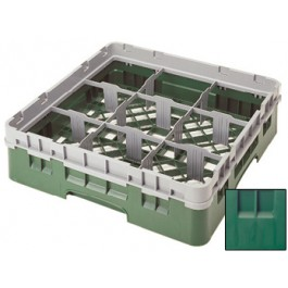 Glass Rack (H: 9cm) 9 compartments, Green