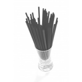 Sip Straw 10.2cm 3mm Bore Black (Pack of 1000)