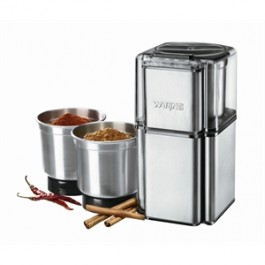 Waring Spice Grinder 340ml bowl 70g chopping capacity weight 1.6kg 21.2 x 12.2 x 14.1cm (H x W x D) Includes 3 spice storage jars