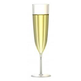 Swirl Plain Champagne Flute Plastic 20.5cm