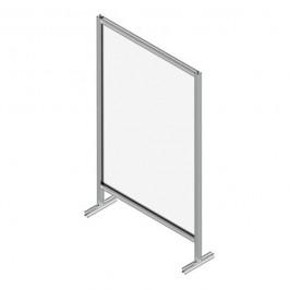 Floor-standing Single Panel Protective Screen 106.4x17.4cm