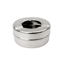 Windproof Ashtray Stainless Steel 4.2 x 8.9cm (HxD)