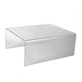 Clear Textured Acrylic Riser 30.5 x 25 x 4cm