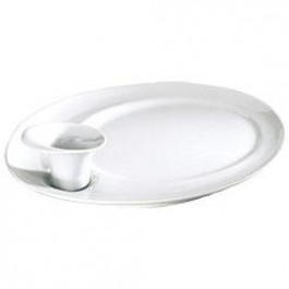 Alizee Oval Plate Lagoon 34.5x28cm DISCON