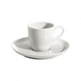 PILLIVUYT Plisse 9CL Coffee Cup White Porcelain