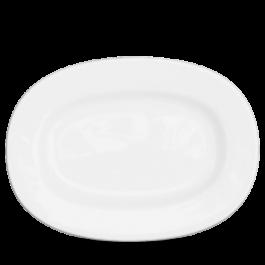 Churchill Alchemy White Rimmed Oval Dish 33cm
