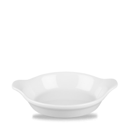 Churchill Cookware White Large Round Eared Dish 17.5 x 21.5cm 59cl