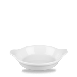 Churchill Cookware White Small Round Eared Dish 15 x 18cm 30cl