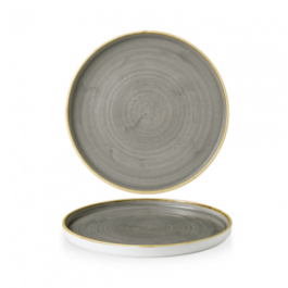 Churchill Stonecast Peppercorn Grey Walled Plate 26cm