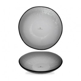 Churchill Bamboo Glass Dusk Organic Bowl 22cm 60cl