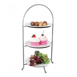 3 Tier Cake Plate Stand For 27-31cm Plates 48cm