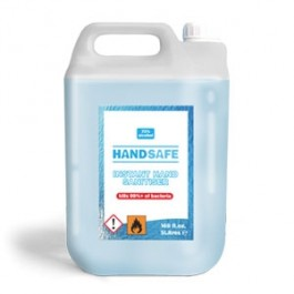 Anti-Bacterial Instant Hand Sanitizer Gel Re-fill bottle 5 Litres (Alcohol content: 70%)  (Trade Pack of 2)