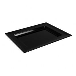 Black Melamine Rectangular Dover Tray 35 x 21 x 2.5cm