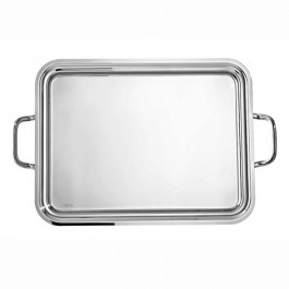 Elite Oblong Handled Tray 50 x 38cm 18/10 Stainless Steel