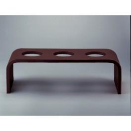Event Wooden Platform Tall Dark Brown 53 x 19 x 16cm