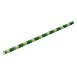 Paper Straw Bamboo (Box Of 250) 6mm Bore 20cm