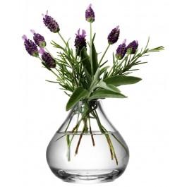 LSA Flower Sprig Vase Clear 11cm