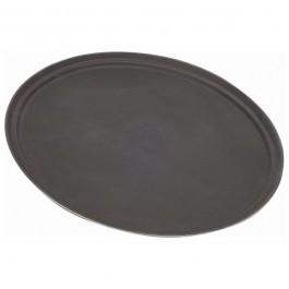 Tray 68.5 x 56cm Black, Oval, Non Slip