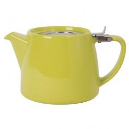 Forlife Lime Teapot 51cl Lead-Free Glazed Porcelain. Filter Included