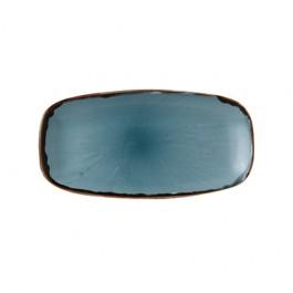 Dudson Harvest Blue Chefs Oblong Plate 29.8 x 15.3cm