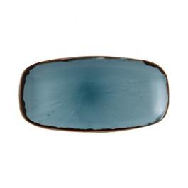 Dudson Harvest Blue Chefs Oblong Plate 35.5 x 18.9cm
