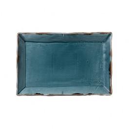 Dudson Harvest Blue Small Rectangular Tray 28.2 x 18.7cm