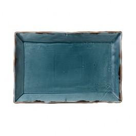 Dudson Harvest Blue Large Rectangular Tray 34.2 x 23.1cm
