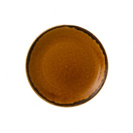 Dudson Harvest Brown Coupe Plate 16.5cm