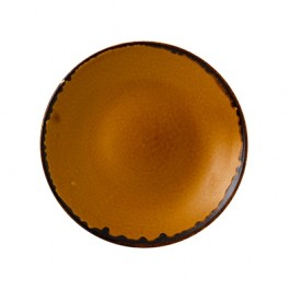 Dudson Harvest Brown Deep Coupe Plate 25.5cm
