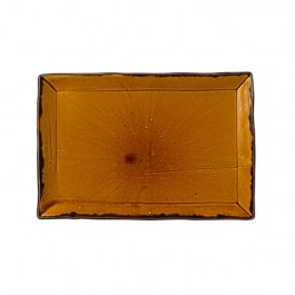 Dudson Harvest Brown Small Rectangular Tray 28.2 x 18.7cm