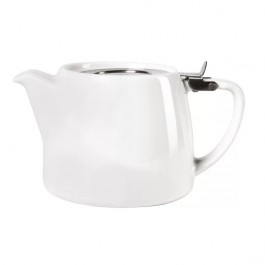 Forlife White Teapot 51cl Lead-Free Glazed Porcelain. Filter Included