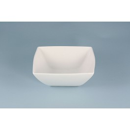 Oriental Range Bowl White, contemporary, square 14cm