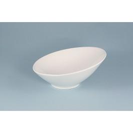 Oriental Range Bowl White, sloping 15.5cm
