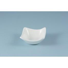 Oriental Range Square Plate White, durable 7.5cm