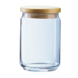 Mania Glass Jar With Wood Lid 0.5 Litre