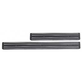 Magnetic Knife Rack 33 x 4cm Black ABS plastic, with 2 powerful magnetic bands, for wall mounting